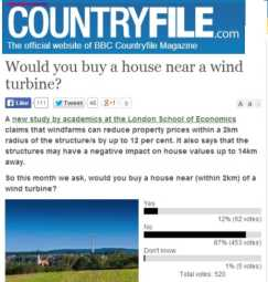 countryfile bbc wind turbine poll