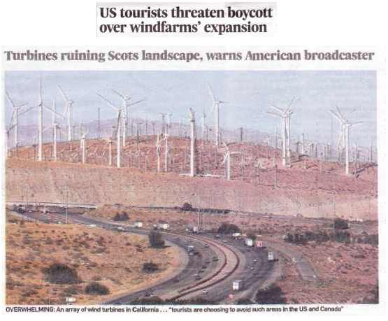 effect of wind turbines on tourism